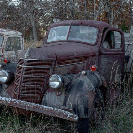 Classic International Farm Truck with wood-sided cab